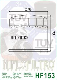 Масляный фильтр HIFLO HF153 (Bimota, Cagiva, Ducati, Gilera)