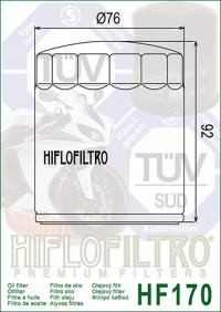 Масляный фильтр HIFLO HF170B глянцево-черный (Harley Davidson)