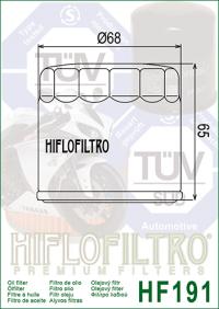 Масляный фильтр HIFLO HF191 (Peugeot scooter, Triumph)