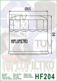 Масляный фильтр HIFLO HF204 (Arctic Cat ATV, Honda, Kawasaki, Mercury / Mariner, MV Agusta, Suzuki, Triumph, Yamaha)