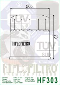 Масляный фильтр HIFLO HF303 (Access ATV, Apache ATV, Bimota, Honda, Kawasaki, Polaris, Yamaha)