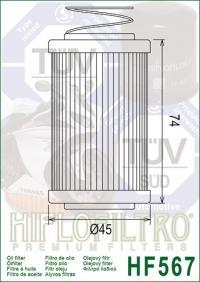 Масляный фильтр HIFLO HF567 (MV Agusta)