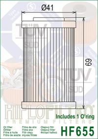Масляный фильтр HIFLO HF655 (Husaberg, Husqvarna, KTM)