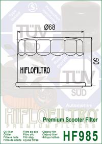 Масляный фильтр HIFLO HF985 (Kymco scooter, Yamaha scooter)